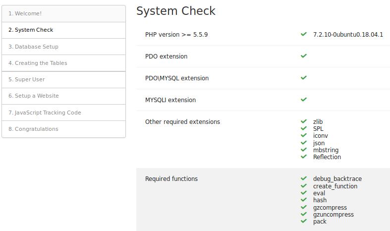 Installing Matomo User Guide - Analytics Platform - Matomo