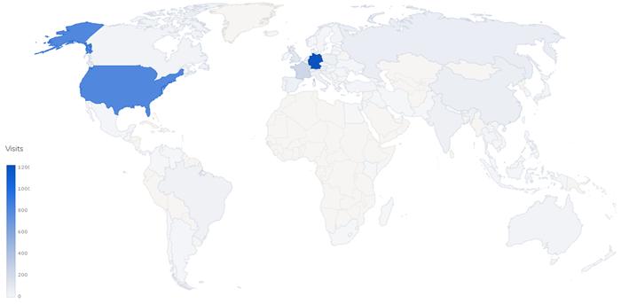 Open Source World Map for Piwik - Analytics Platform