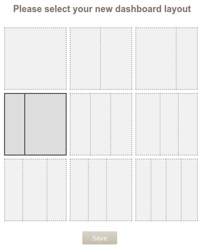 New dashboard layouts.
