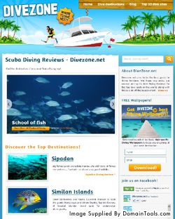 Divezone.net use case: Scuba Diving Content Website