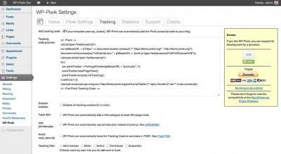 WP-Matomo tracking settings