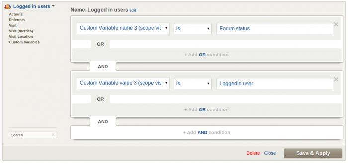 Custom Segment Editor with Custom Variable segmentation
