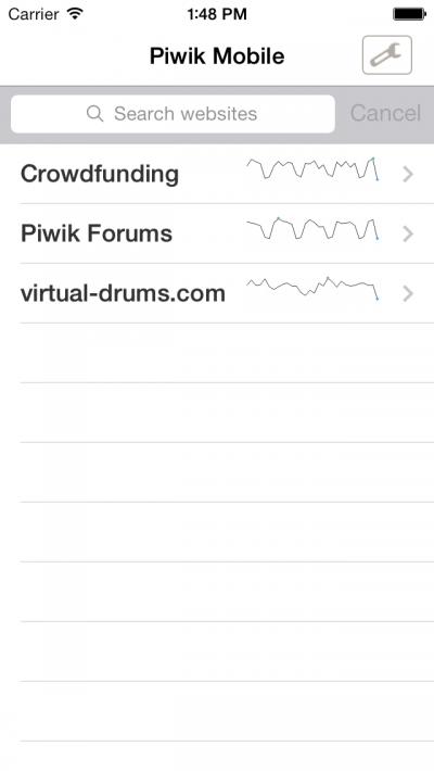 Matomo Mobile 1 - Websites - iOS 7 Preview
