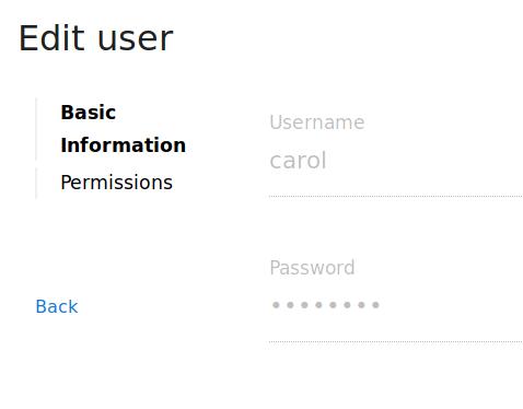 User Edit Form for Admins