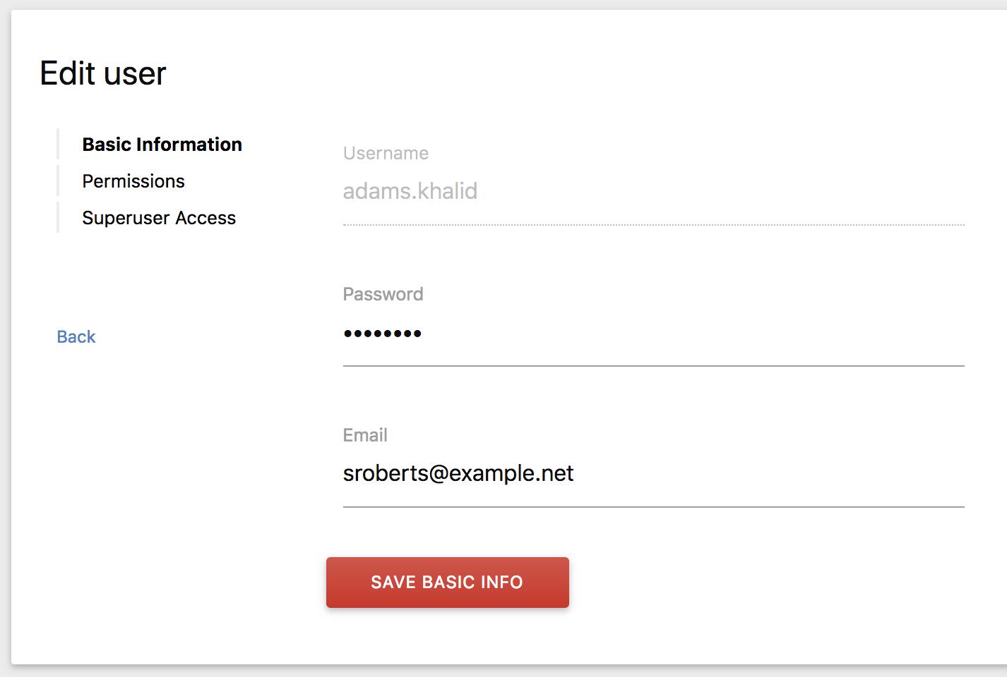 Edit User Form