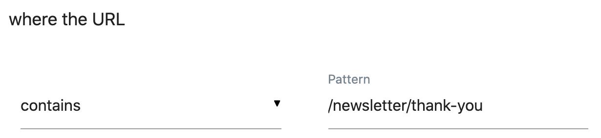 Goal Trigger URL
