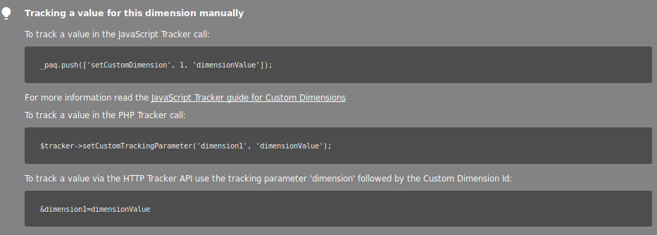 tracking custom dimensions via javascript or SDK