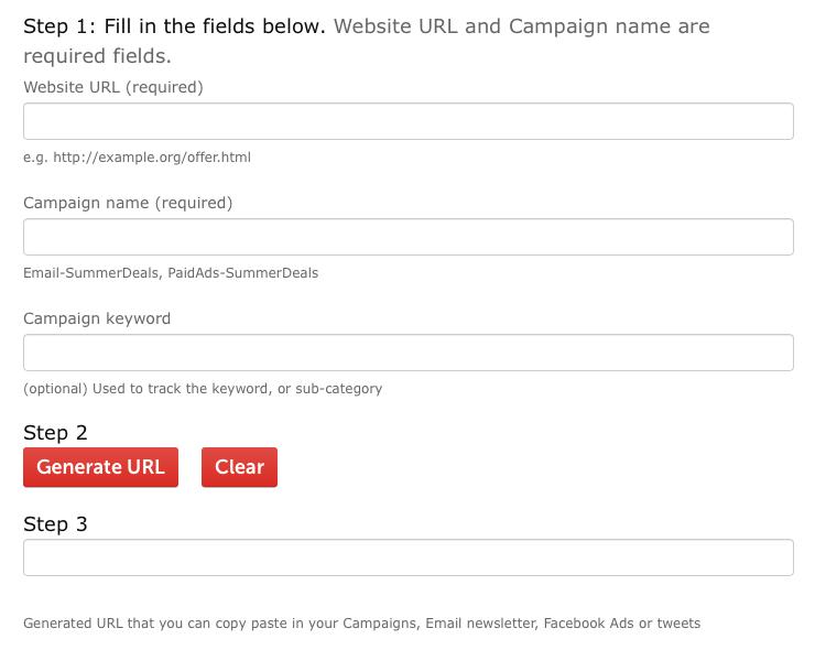 Matomo Campaign URL Builder