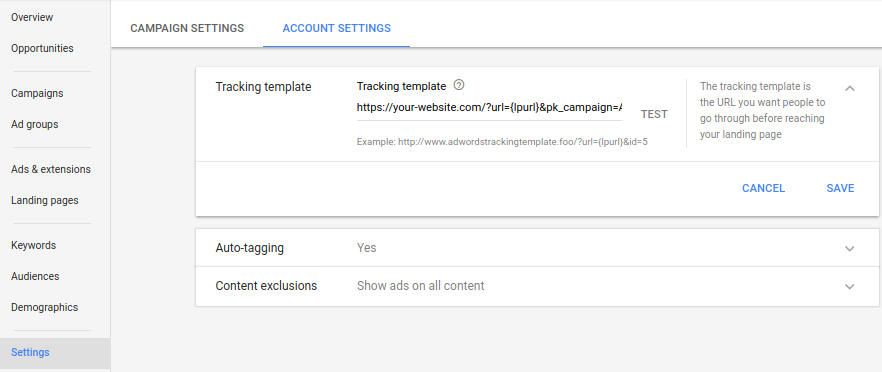 How to track Google AdWords campaigns with Piwik - Analytics ...