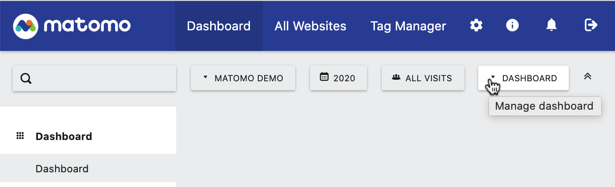 Dashboard Menu Button