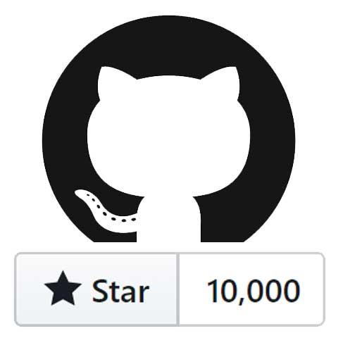 10000 stars on Github